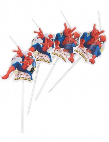 Procos - Pack de 6 pajitas Spiderman, multicolor, PR90276