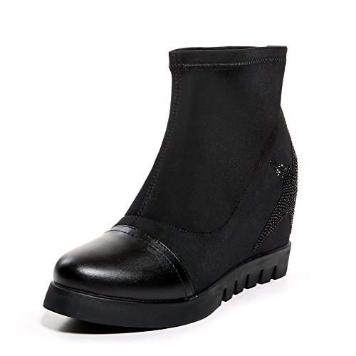 balamasa-ladies-color-matching-thick-bottom-heel-platform-pull-on-black-cow-leather-boots-4-uk
