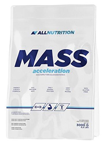 ALLNUTRITION Mass Acceleration Protein-Kohlenhydrat-Komplex Training Bodybuilding (3000g Cappuccino) -
