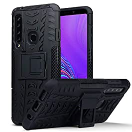 TERRAPIN, Compatible with Samsung Galaxy A9 2018 Case, Rugged Impact Resistant Dual Layer with Kickstand – Black