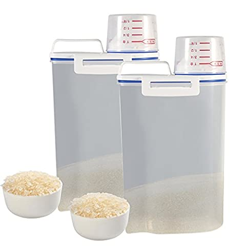 1 pcs Plastic Storage Container Cereal Grain Clear Sealed Food Storage Box With Lids