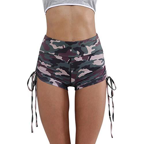 Topgrowth pantaloncini donna sportivi yoga stretchy tights a vita alta leggings pantaloncini mimetici workout running shorts