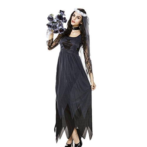 Imagen de disfraz de novia zombie mujer cosplay traje de novia cadaver ropa de boda alternativa