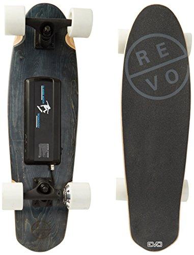 REVOE Evo, Skateboard Elettrico Cruiser Adulto, Nero