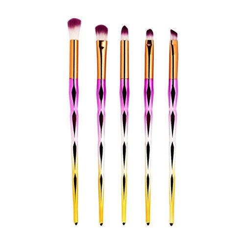Pinceaux Maquillages,Cosmétique Brush,Beauté Maquillage Brosse,PowerFul-LOT 5pcs Pinceau De Maquillage Cosmétique Pinceau De Maquillage Pour Les Lèvres Pinceau Fard à Paupières(D4)