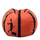 Youngshion Sitzsack/Sitzsack in Kugelform, aus Segeltuch, gefüllt, für Kinder, Plüschtiere/Kleidung, Quilts/Organizer, weiche Tasche, canvas, Basketball, 66 cm