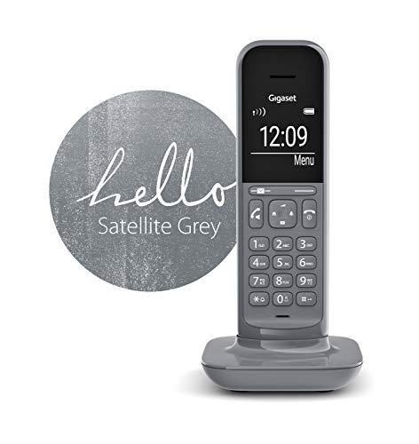 Gigaset CL390HX Universal Mobilteil - Design Telefon kompatibel mit Fritzbox und VOIP Freisprechfunktion - schnurloses DECT Telefon mit großem Grafik Display, Satellite Grey