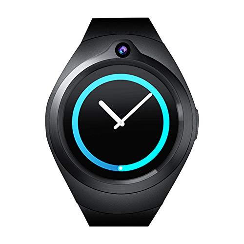 ZLOPV Fitness Armband 3G Smartwatch S216 Android 5.1MTK6580 1GB 16GB GPS Herzfrequenz Smartwatch Männer 400 mAh Akku für iOS & Android-Handy PK KW88 QW09, Schwarz