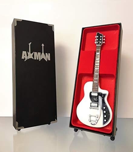 David Bowie Supro guitarra eléctrica de dos tonos - réplica de guitarra en miniatura