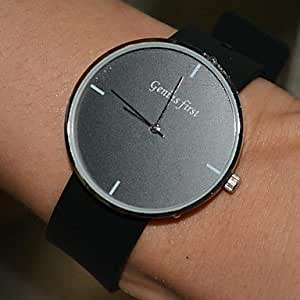 LZX les montres pour hommes cadran rond bande de caoutchouc naturel imperméable montres de sport JAPAN (couleurs assorties) , Jaune