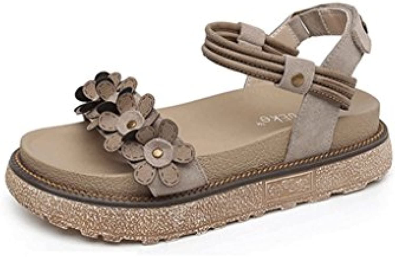 LBLX Sandalias, Zapatos de Plataforma de Verano Versión Coreana Zapatos de Mujer de Fondo Grueso Zapatos Romanos...