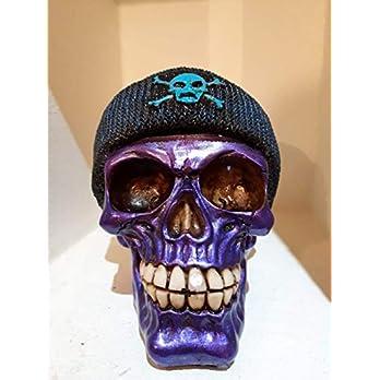 Handgefertigter Totenkopf Purple Skull