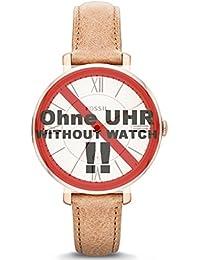 Fossil Uhrband Wechselarmband LB-ES3487 Original Ersatzband ES 3487 Uhrenarmband Leder 14 mm Beige