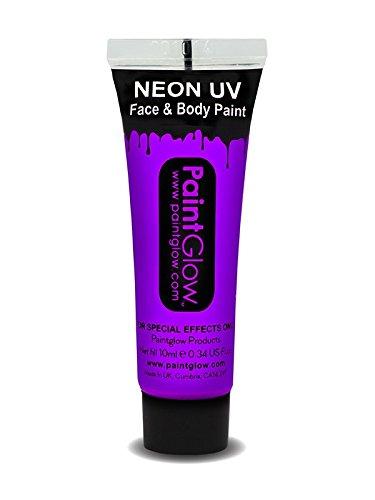 Smiffys - SM45991 - Peinture UV Corps et Visage 10 ml Violet - Taille Unique