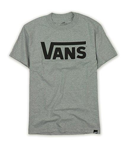 Vans Mens Classic Logo Skateboard Shirt-Athletic Grey/Black-Medium