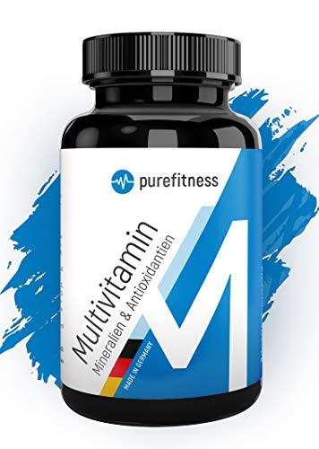 MULTIVITAMIN A-Z + Mineralien + Antioxidantien I Alles in 1 Tablette I Laborgeprüft I 240 Tabletten I MADE IN GERMANY I REIN OHNE ZUSÄTZE I Vegan