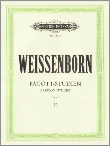 Fagott-Studien, Heft 2: Für Fortgeschrittene op. 8