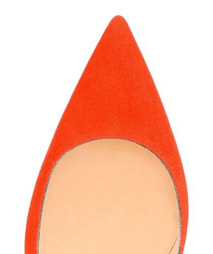 Guoar - Scarpe chiuse Donna (Orange Samt)