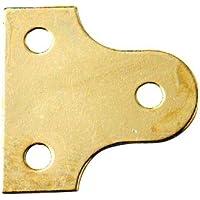 Bulk Hardware - Piastra circolare per vetro, 50 mm, placcata in ottone, 10 pezzi