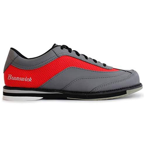 Brunswick Bowling Products Herren Rampage Bowling-Schuhe, rechte Hand, M US, Grau/Rot, 9,5 -