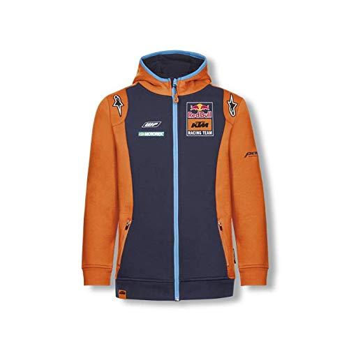 Red Bull KTM Official Teamline Zip Felpa con Cappuccio, Blu Bambina 164 Hoodie, KTM Factory Racing Abbigliamento & Merchandising Uff