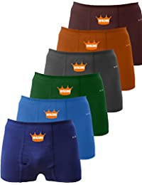 ROYALSONS Men's Cotton Trunks Underwear - Combo Pack of 6