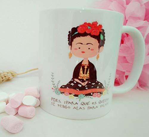 adaysusdetalles Taza Frida KHALO Ceramica Desayuno Cafe