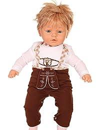 Isar-Trachten - Pelele - Cuello redondo - Manga Larga - para bebé niño