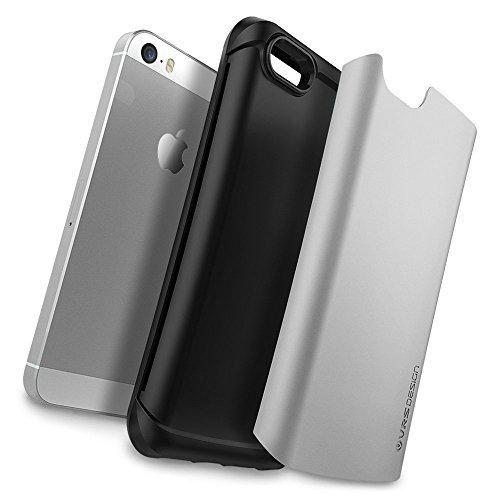 Apple iPhone SE / 5S / 5 Case Handyhülle, VRS Design Apple iPhone SE / 5s / 5 Case [Hard Drop] Schutz Hülle Case Cover | Shine Gold Light Silver