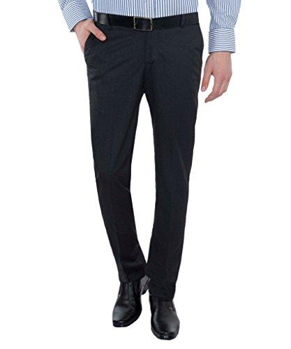 Only Vimal Men's Charcoal Black Slim Fit Formal Trouser