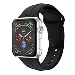 Quartz Watch, Replacement Sports Soft Silicone Watch Band Strap for Apple Watch Series 4 40MM