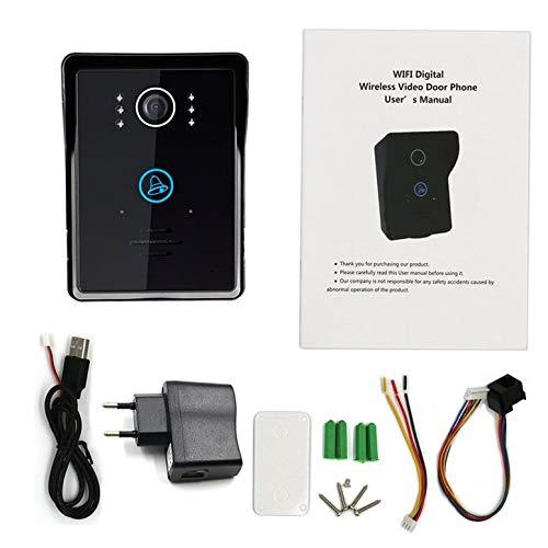Lynn025Keats LCD-Digital-Tür-Augen-Tür-Projektor Wireless Video-Türklingel-Weitwinkel-Objektiv-Kamera-Monitor für Home Apartment