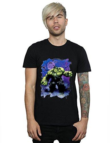 Marvel Herren Hulk Halloween Spooky Forest T-Shirt Large Schwarz (Der Hulk Halloween)