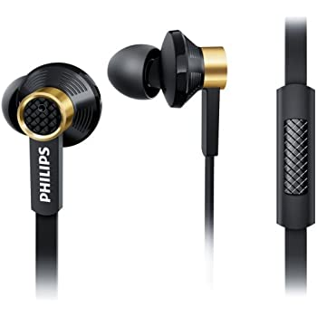 Philips Fidelio TX2BK/00 In-Ear Headphones with Microphone and Premium Drivers (Oval Sound Tubes, 3 Pairs of Ear Caps) - Black