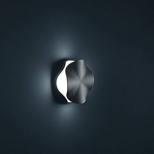 Helestra LED Außenwandleuchte Open, Schwarz, Aluminium/ Kunststoff, A18401.98