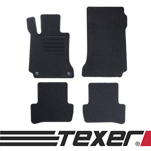 CARMAT TEXER Textil Fußmatten Passend für Mercedes-Benz C-Klasse W204 Bj. 2007-2014 Basic (W204 Mercedes)