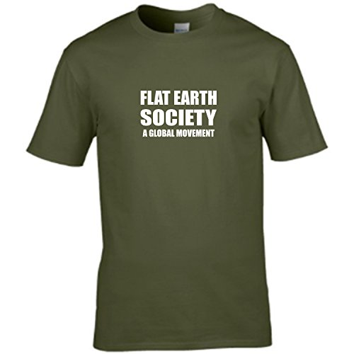 FLAT EARTH SOCIETY - a global movement . Conspiracy humour mens t shirt