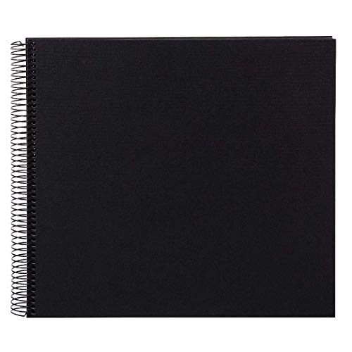 Goldbuch Spiralalbum, Bella Vista, 35 x 30 cm, 40 schwarze Seiten, Leinen, Schwarz, 25997