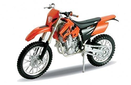 Preisvergleich Produktbild DieCast Modell Motorrad KTM 525 EXC orange metall Welly Motorradmodell 1:18