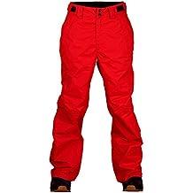 Pantalones de martillo para esquí Two Bare Feet, pantalones de nieve para hombres, hombre, color Fire Red, tamaño XXS