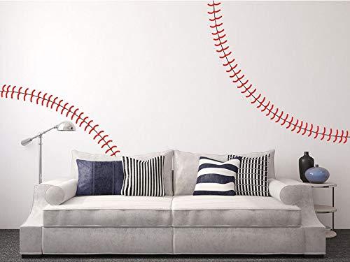 Dalxsh Riesige Volle Wand Baseball Stitch Vinyl Aufkleber, Kindergarten Kindergarten Wandaufkleber, Wohnkultur