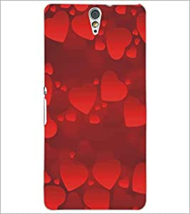PRINTSWAG HEARTS Designer Back Cover Case for SONY XPERIA C5