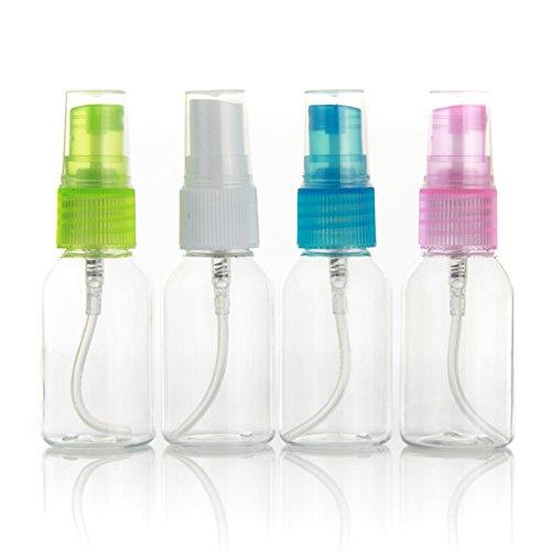 TININNA Vaporisateur Vide Eau de Toilette Spray en Plastique 30ml Flacon Transparent Pompe Couleur Aléatoire 10 pcs - multicolor - Taille libre