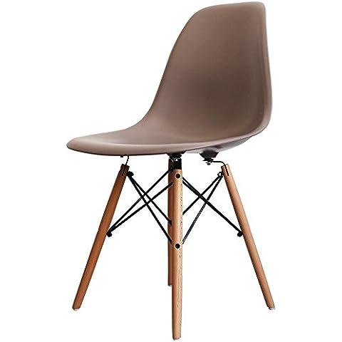 Charles Eames Sedia laterale in plastica ardesia retrò stile