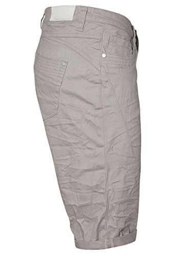 Stitch & Soul Damen Bermuda Light-Grey