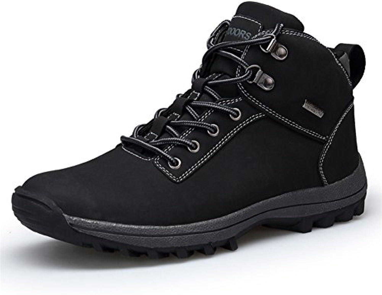 LSYSAG Herren Wasserdichte Wanderschuhe High Top Trekking Schuhe Rutschfeste Trekking Sneaker