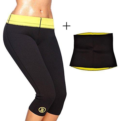 Rapid Shapewears Capri and Waist Shaper Belt Combo XL Waist Size 30-32...