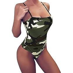Darringls_Traje de baño ,Bikini Una Pieza Bañador Verano bañadores Mujer Halter Sexy Traje de baño Camuflaje