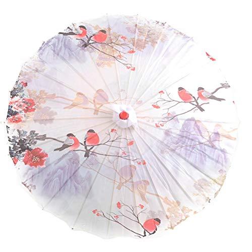 Chinesischer Schirm,Regenschirm Sonnenschirm fuer Cosplay Hand-Malerei Tanzen Dekoretion