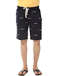 YOO Men's Hosiery Printed Casual Regular Fit Short
